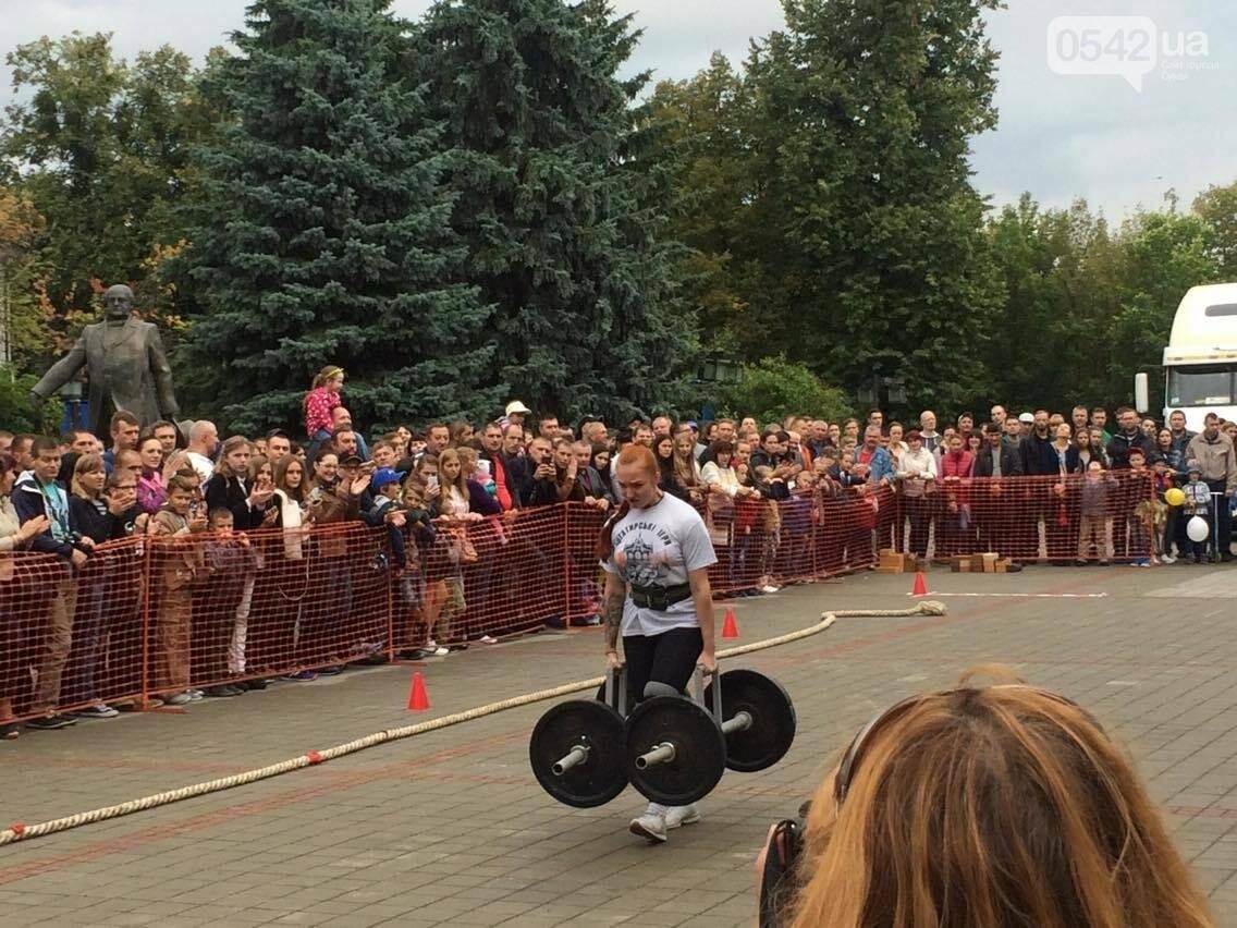 «Богатырские игры»: в центре Сум девушки тянули 2-тонный автомобиль, а парни – 4-тонную фуру , фото-7