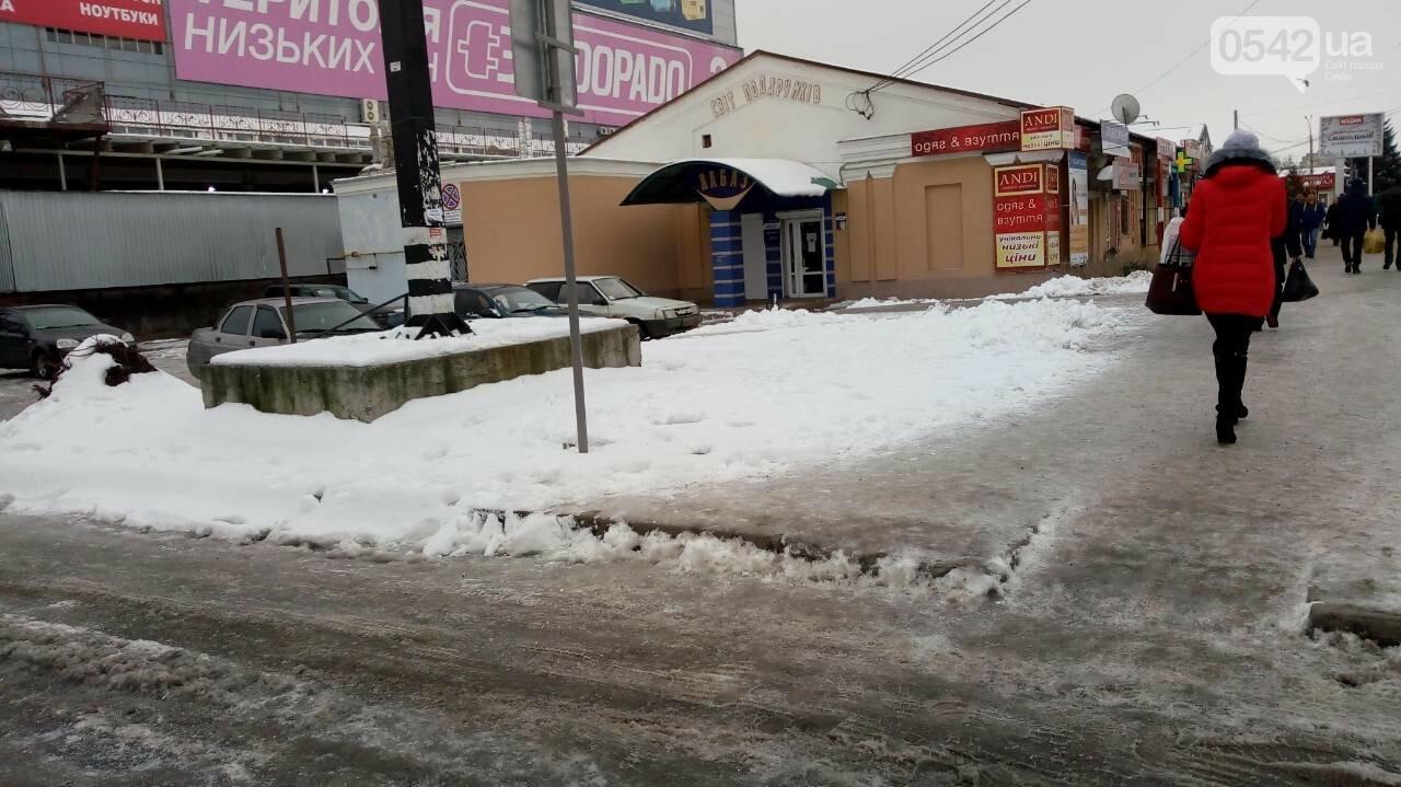 В Сумах за неочищенные тротуары оштрафовали 14 предпринимателей, фото-1
