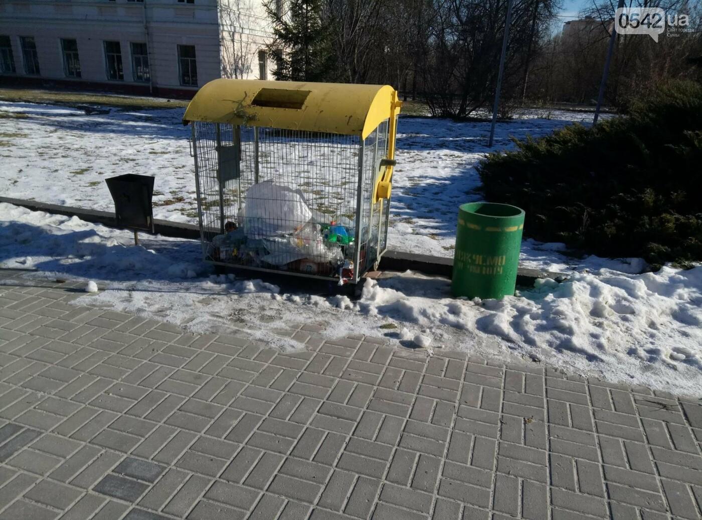 Театральную площадь в Сумах «украсили» мусорными баками, фото-5