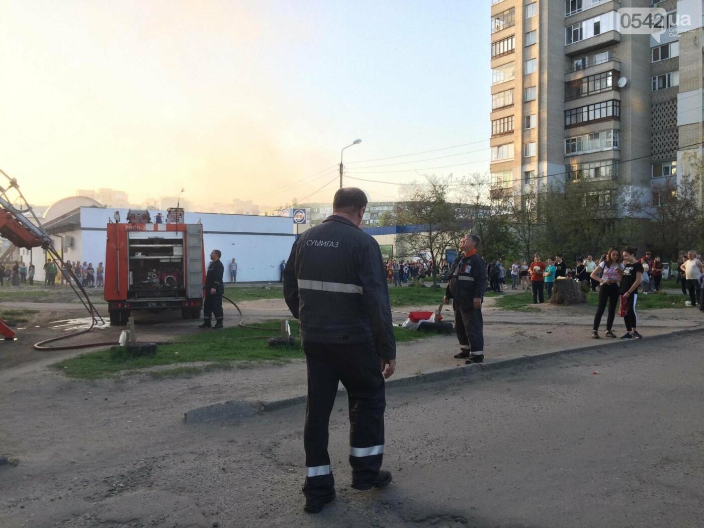 В Сумах горела квартира в многоэтажке, фото-5