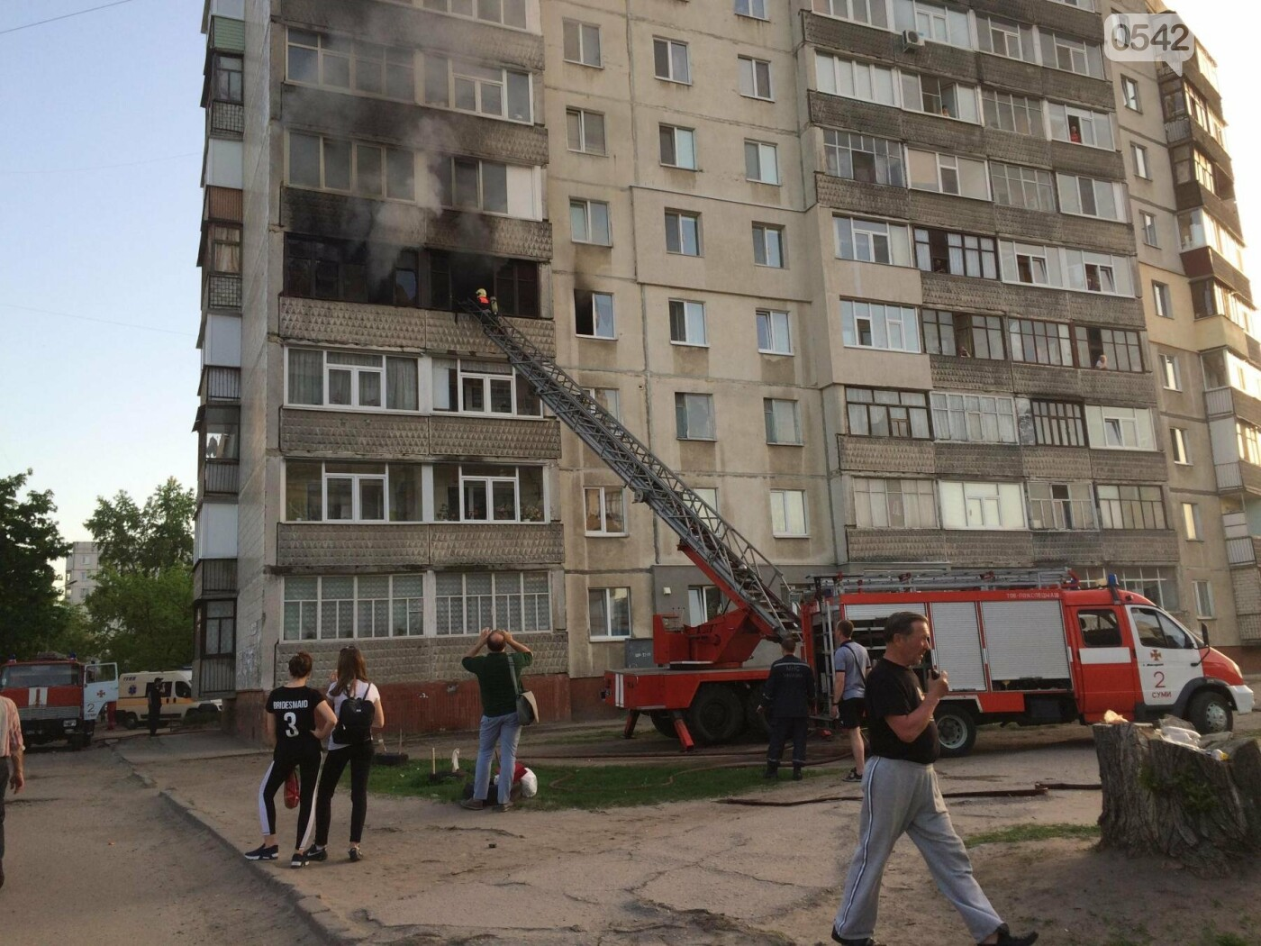 В Сумах горела квартира в многоэтажке, фото-10