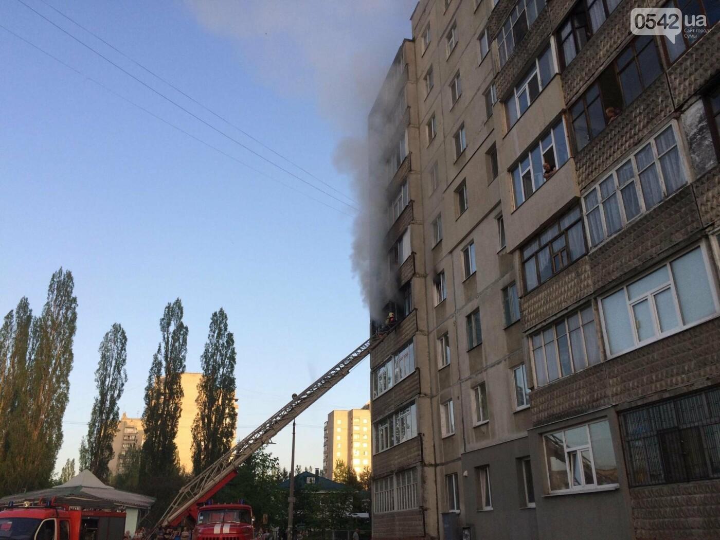 В Сумах горела квартира в многоэтажке, фото-6