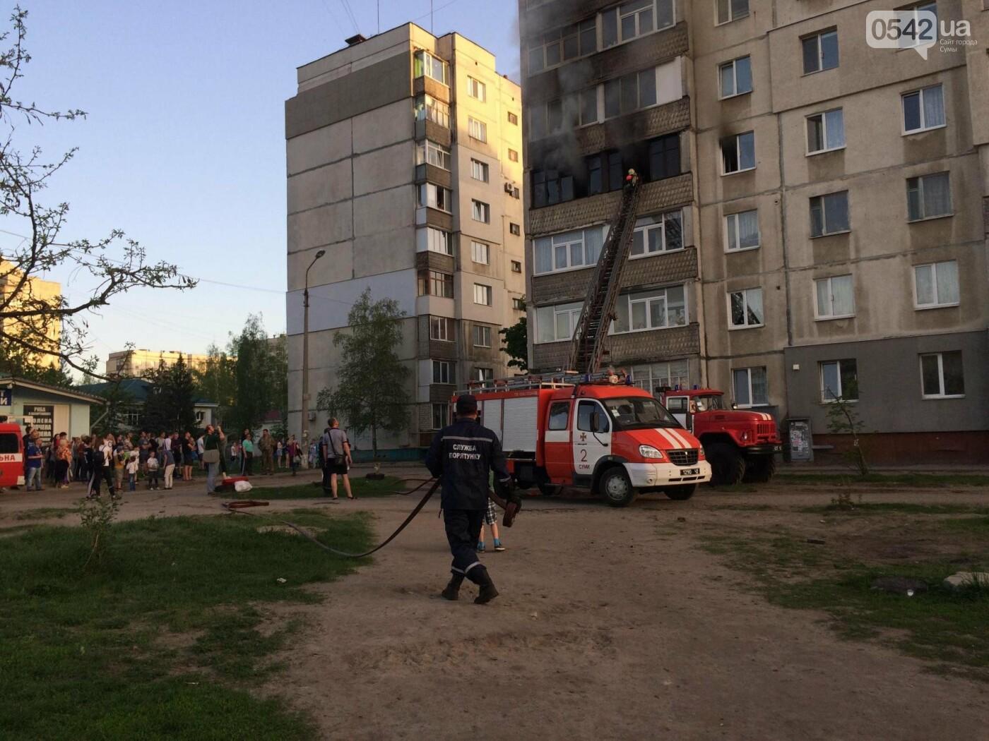 В Сумах горела квартира в многоэтажке, фото-8
