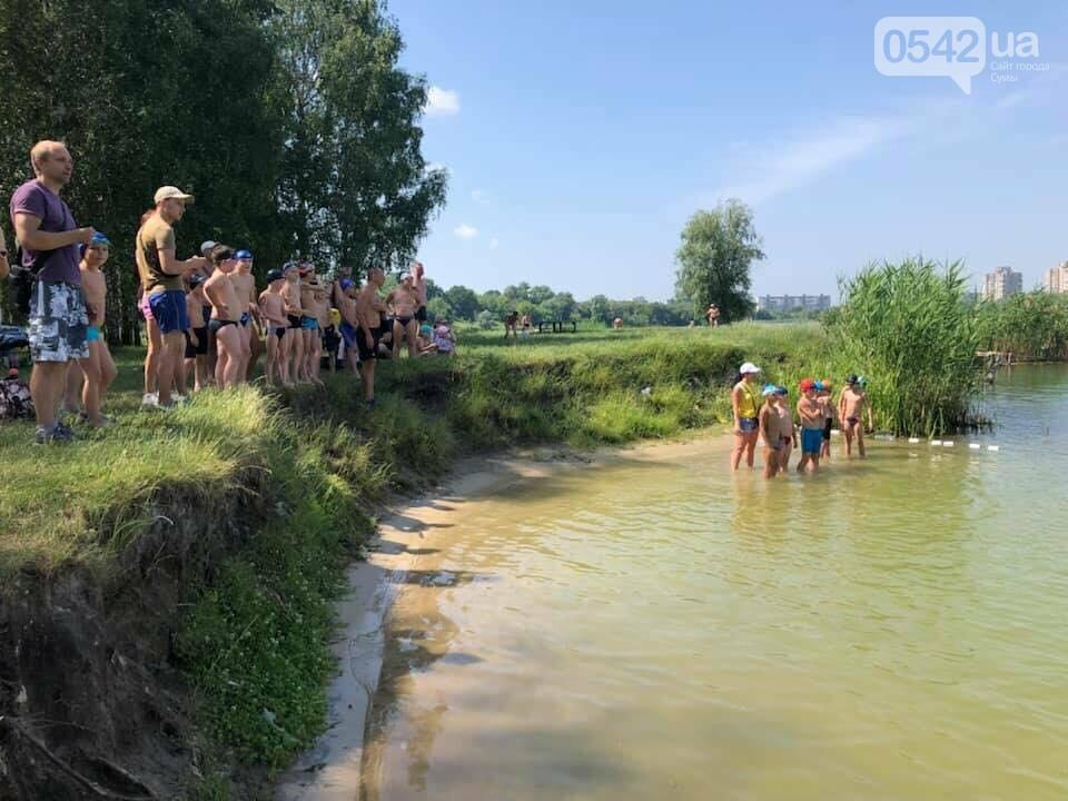 На озері Чеха в Сумах відбуваються змагання з дуатлону, фото-1