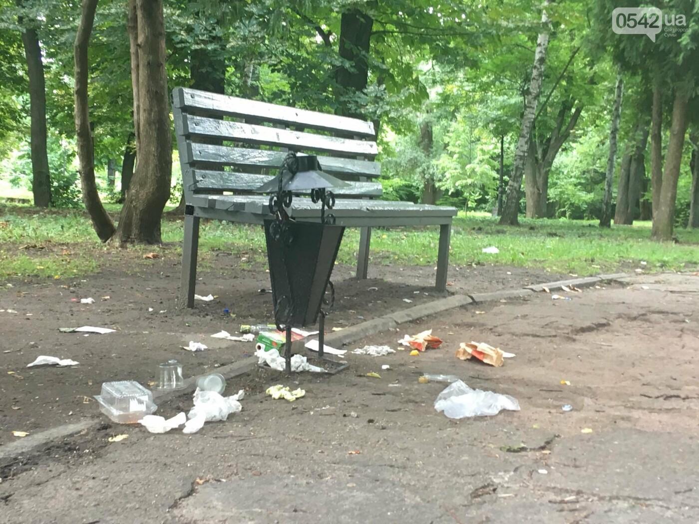 У Сумах сміття лежить біля порожніх урн: культура жителів міста або сумлінність комунальників?, фото-2