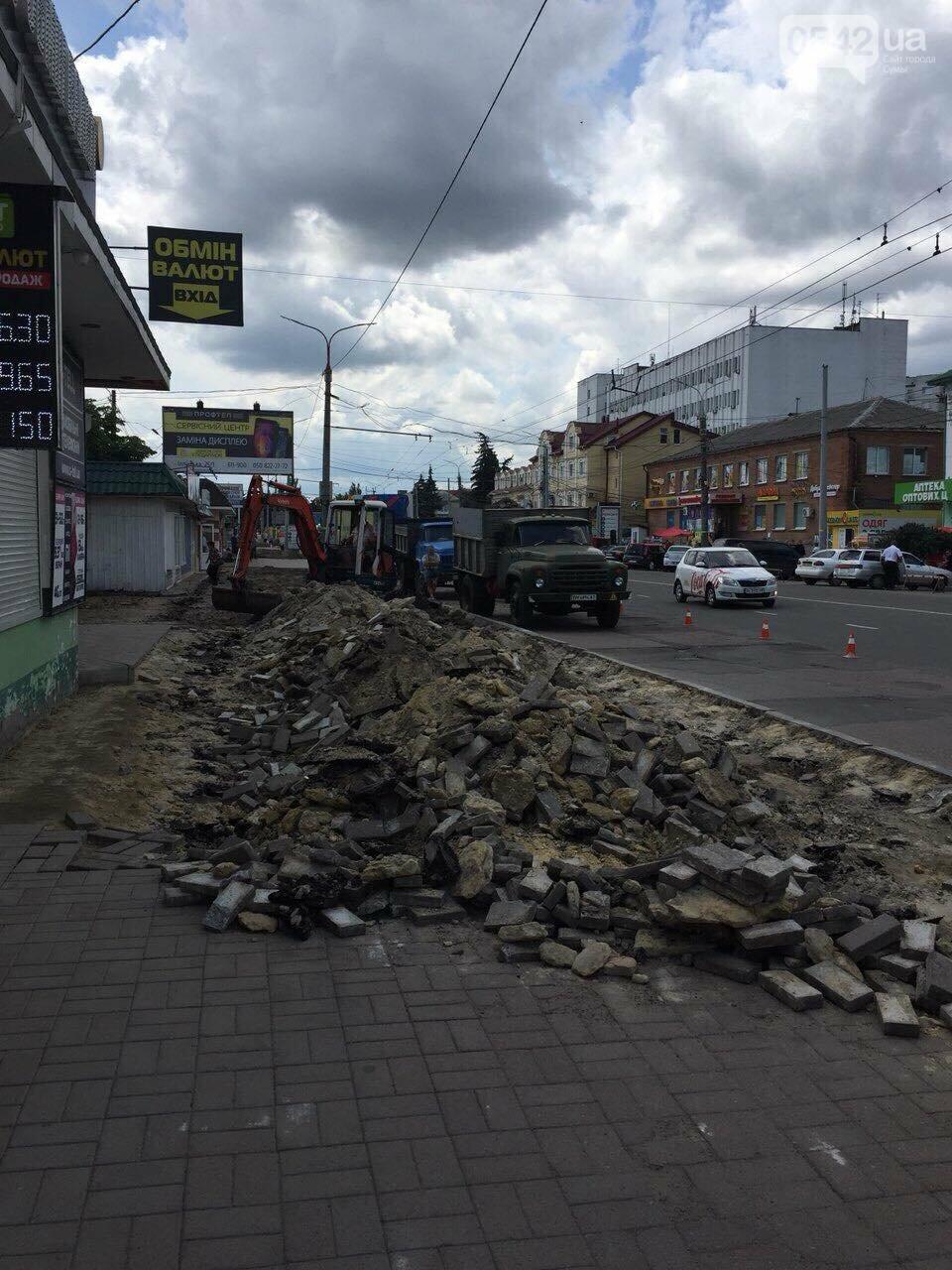 У Сумах ремонтують тротуар по вул. Набережній р. Стрілки, фото-6