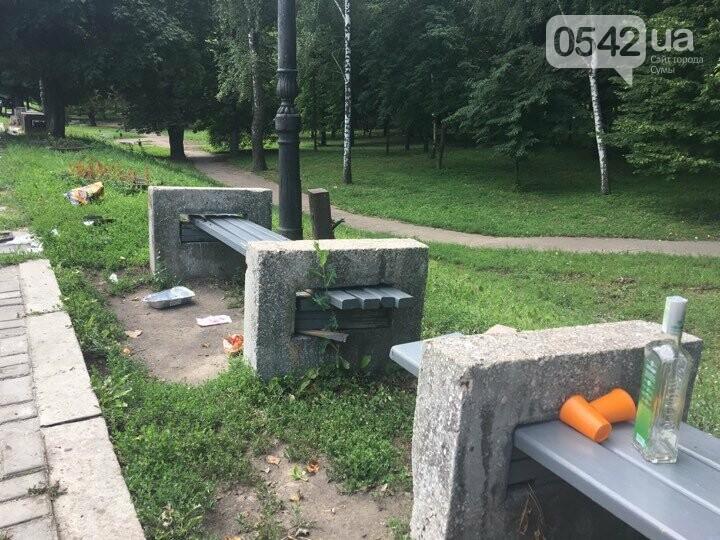 У Сумах сміття лежить біля порожніх урн: культура жителів міста або сумлінність комунальників?, фото-4