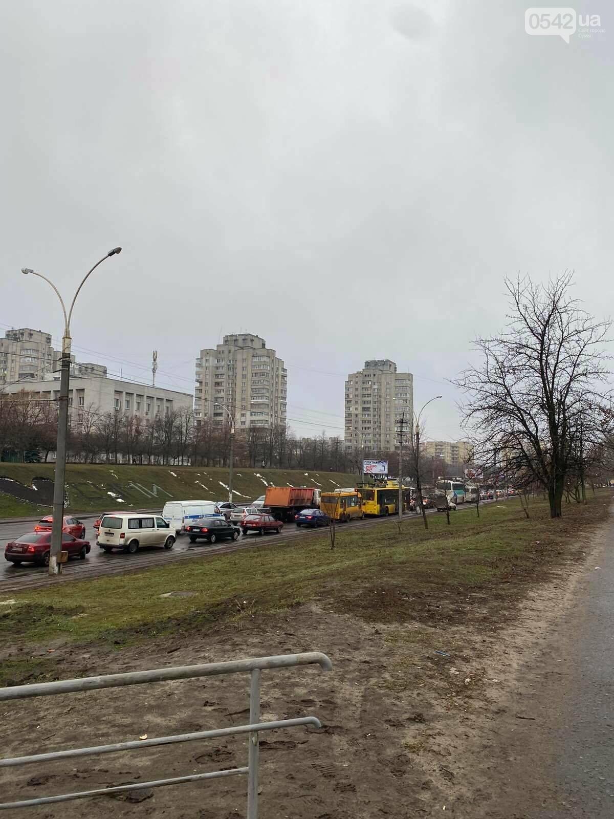 У Сумах через ДТП тимчасово «стояв» проспект Лушпи, фото-1