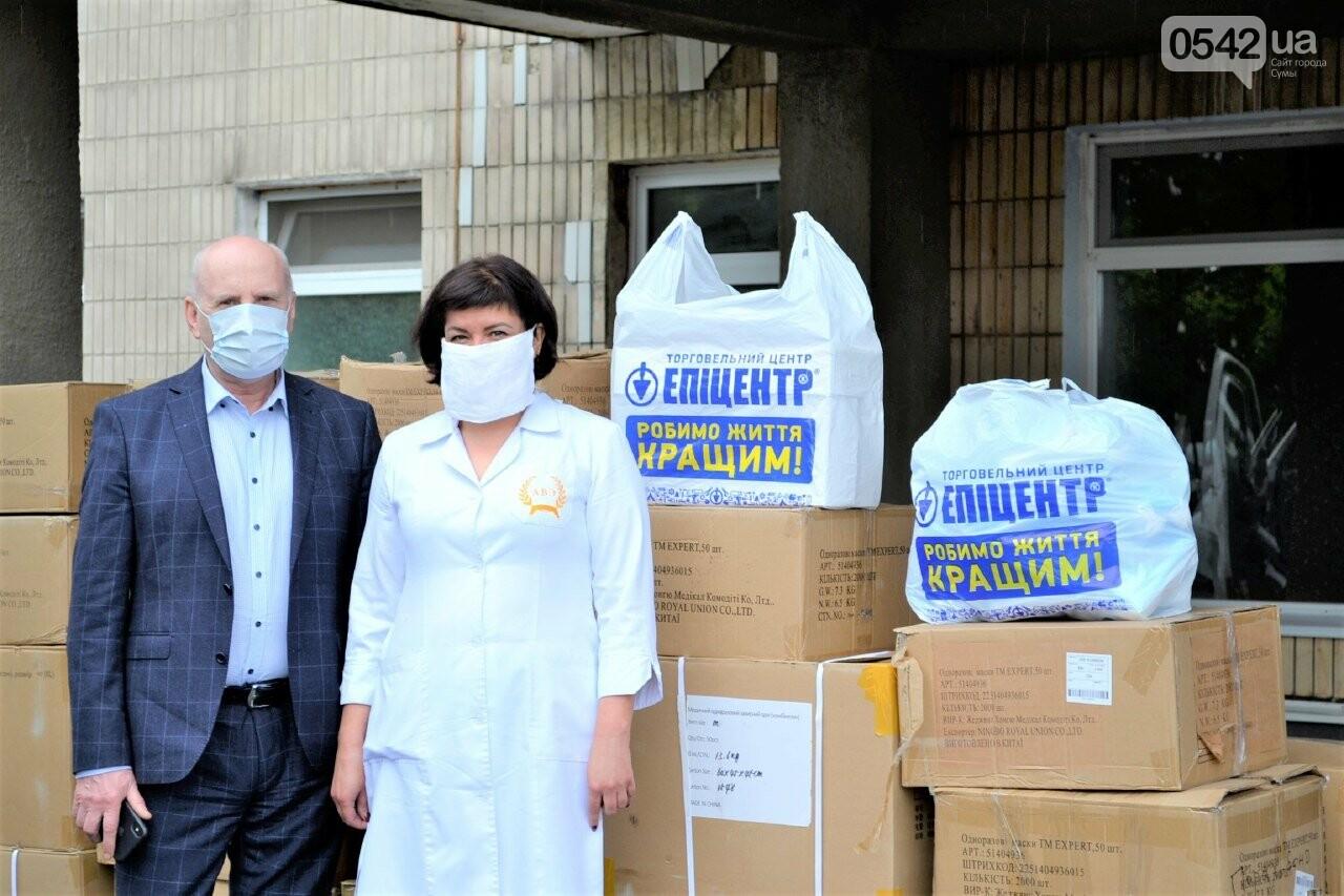 Медичні працівники Сум та області отримали партію благодійної допомоги від мережі «Епіцентр» для запобігання поширенню COVID-19, фото-4