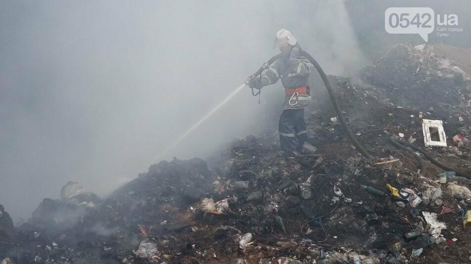 На Сумщині понад дев'ять годин гасили сміттєзвалище. Пожежа поновилася, фото-2
