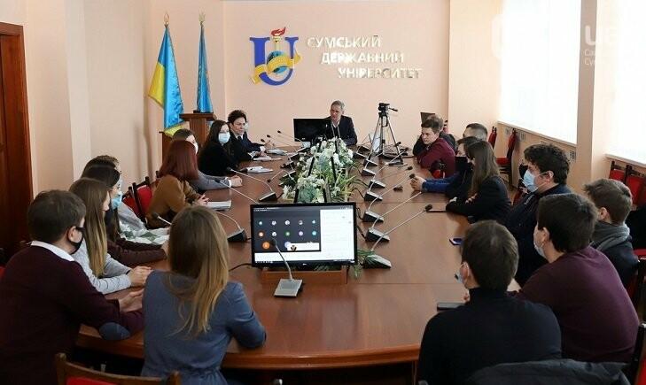 Ректор СумДУ Василь Карпуша зустрівся з представниками студентського самоврядування, фото-2