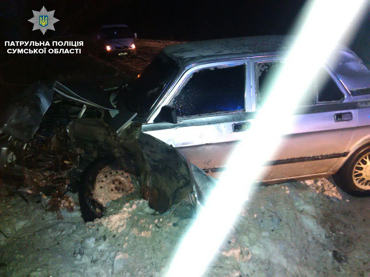 Под Сумами пьяный водитель врезался в дерево, фото-2