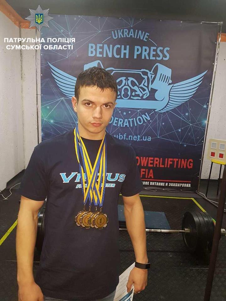 Патрульный из Сум привез 4 золотые медали с соревнований по пауэрлифтингу, фото-3