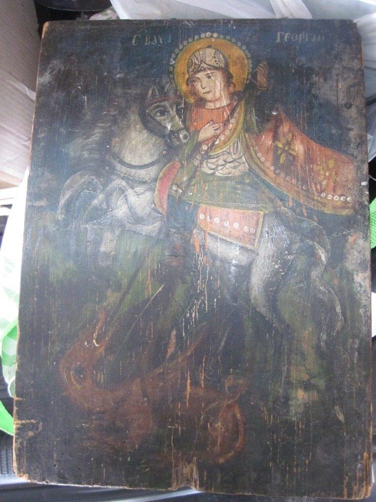Сумские пограничники не дали россиянину вывезти старинную икону Георгия Победоносца, фото-1