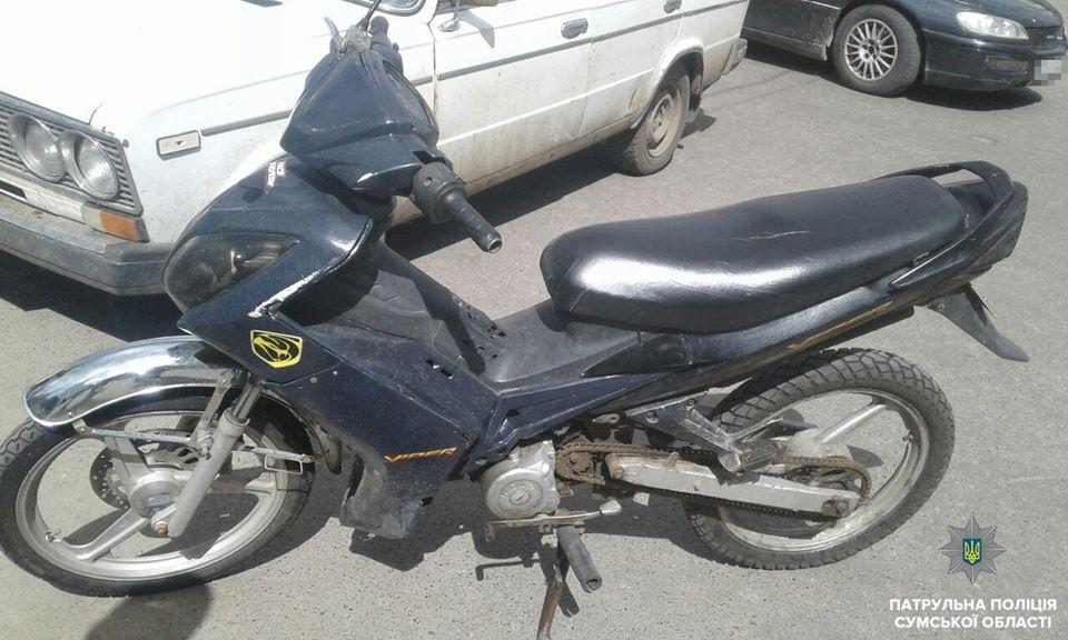 Мотоциклист под кайфом и без прав разъезжал по Сумам, фото-2