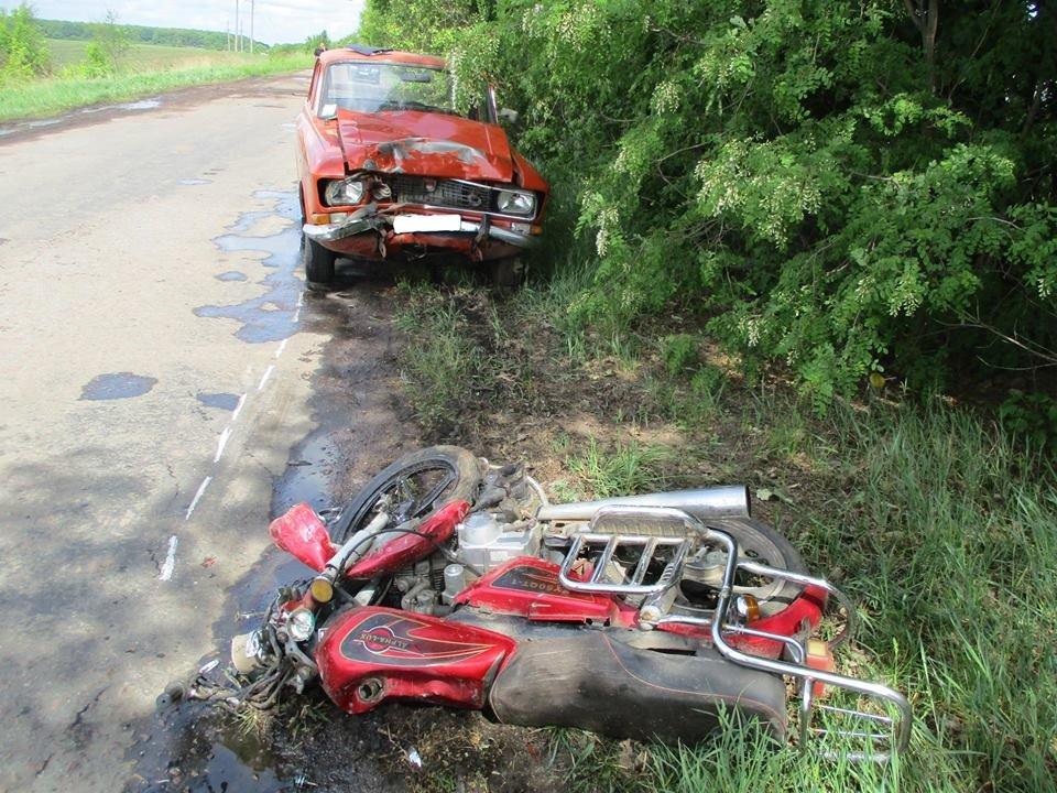 На Сумщине водитель легковушки, объезжая ямы на дороге, насмерть сбил мопедиста, фото-2