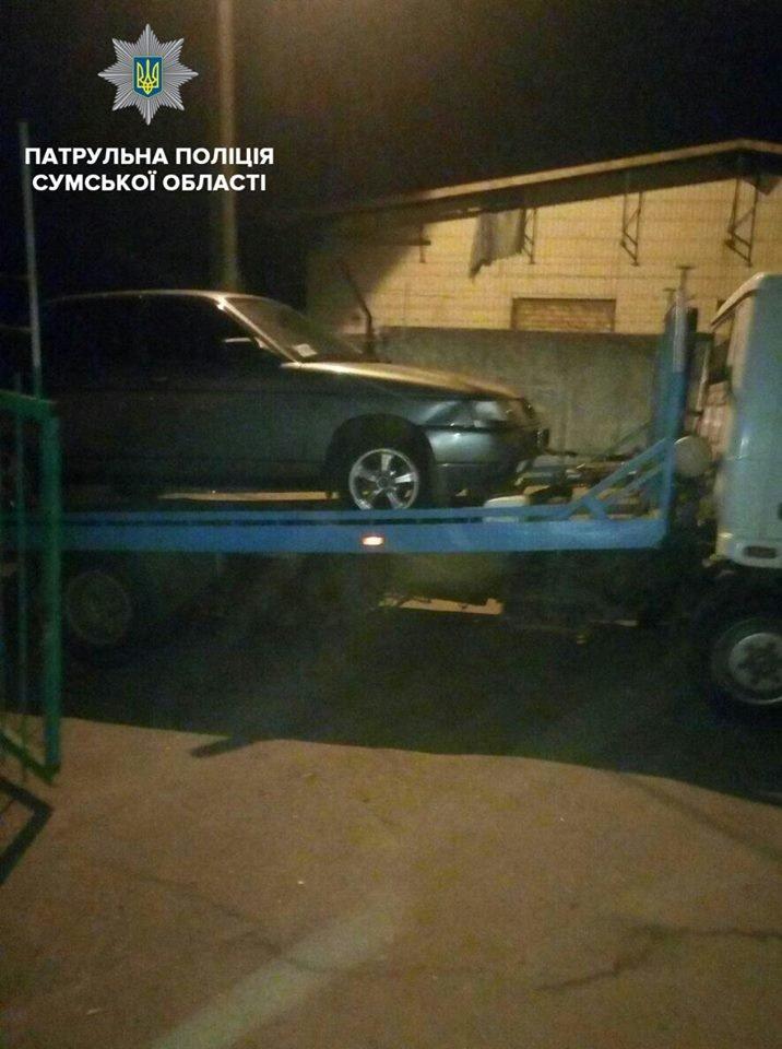 В Сумах пьяный водитель пытался скрыться от патрульных, фото-2