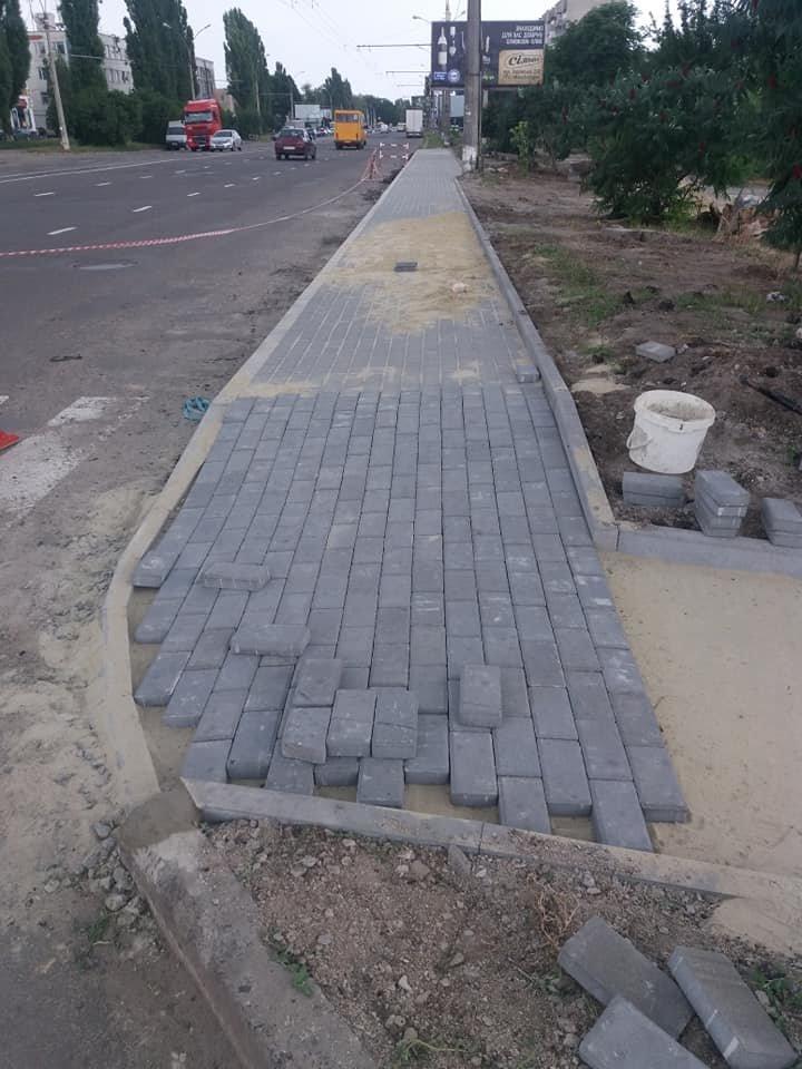 В некоторых районах Сум делают посадочные площадки и ремонтируют тротуары, фото-5