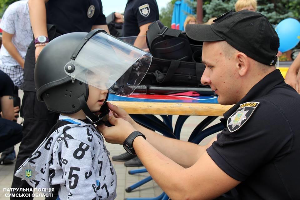 В Сумах патрульная полиция отметила свой День рождения в кругу детей , фото-8