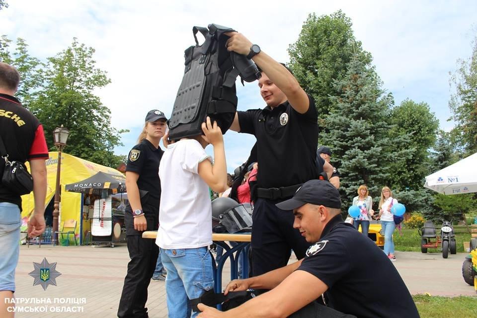 В Сумах патрульная полиция отметила свой День рождения в кругу детей , фото-9