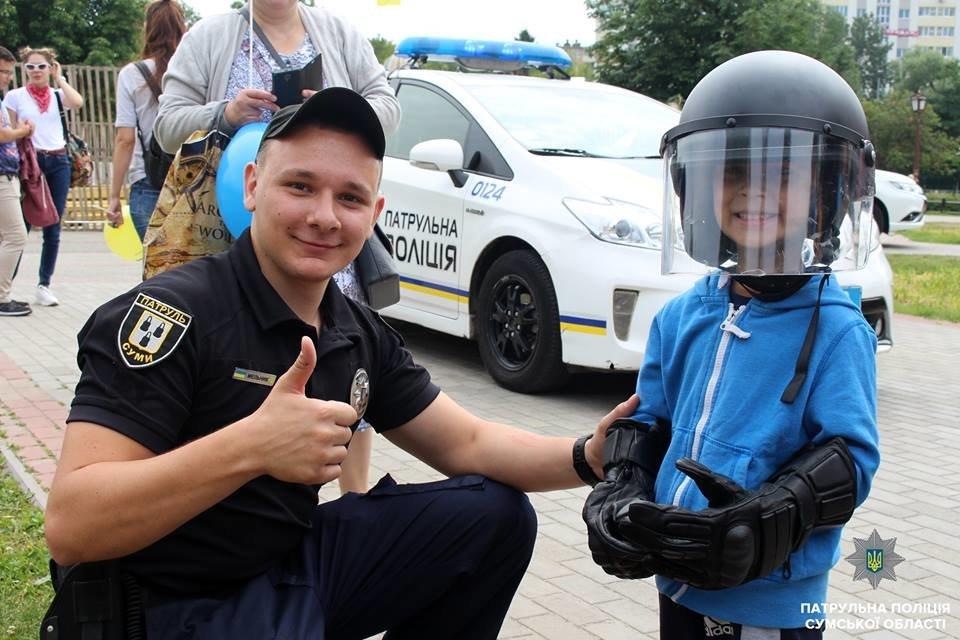 В Сумах патрульная полиция отметила свой День рождения в кругу детей , фото-12