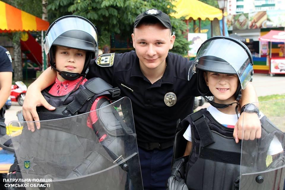 В Сумах патрульная полиция отметила свой День рождения в кругу детей , фото-10