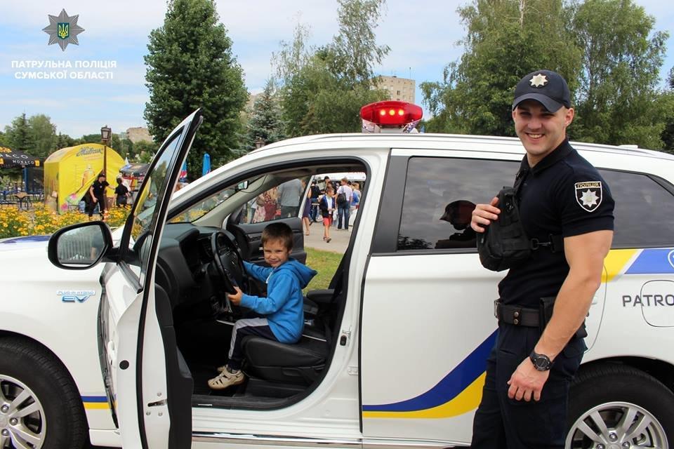 В Сумах патрульная полиция отметила свой День рождения в кругу детей , фото-11