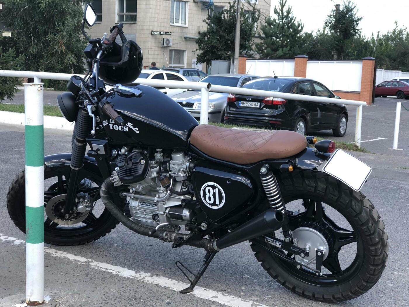 В Сумах выявили мотоцикл HONDA, имеющий проблемы с законом, фото-1