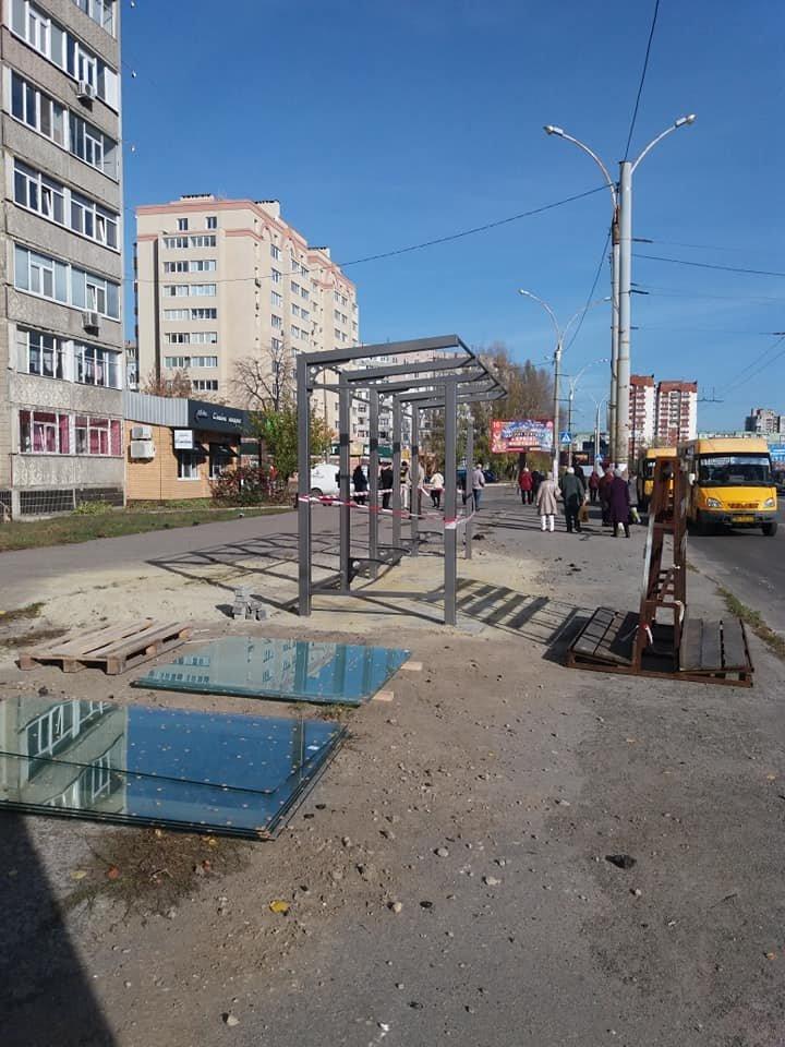 В Сумах на завершающей стадии ремонта две остановки общественного транспорта, фото-1