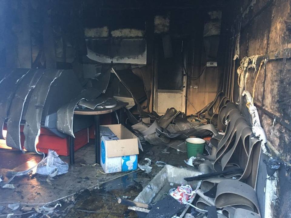 На Сумщине сгорел торговый павильон, который должен был открыться в пятницу, фото-1
