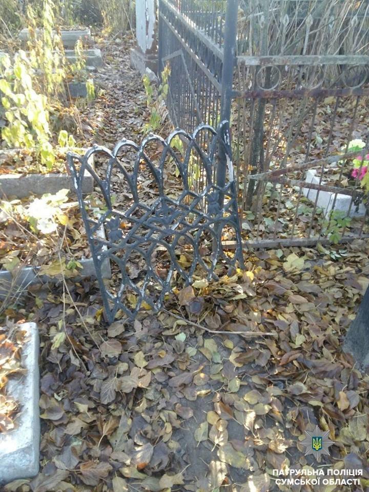 В Сумах задержали кладбищенских воров, фото-3