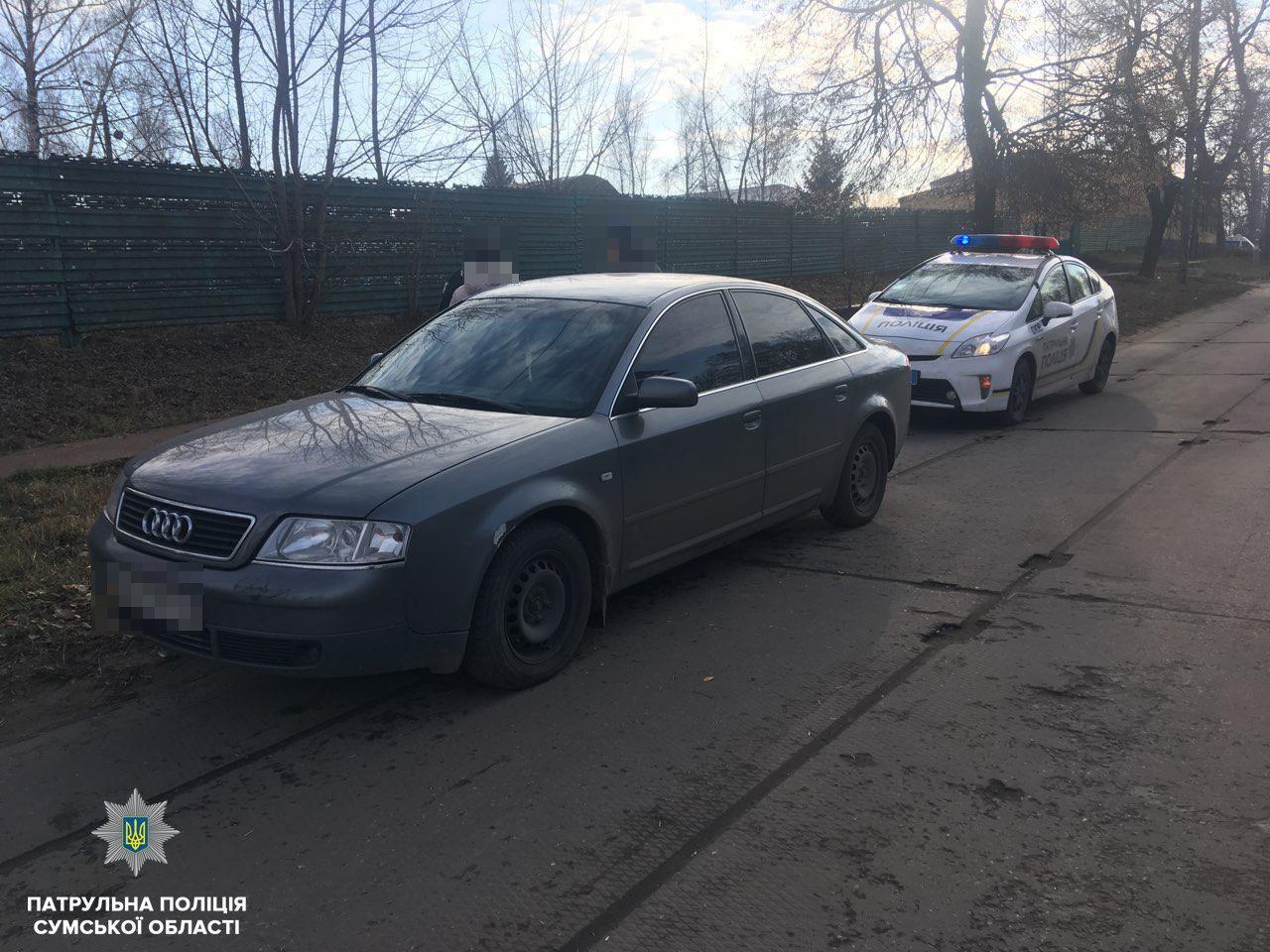 Работники отдела БДД остановили на Сумщине иномарку, которая не значится ни в одной полицейской базе, фото-1