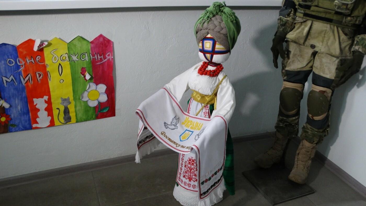 Центру обслуживания участников боевых действий, участников АТО и членов их семей в Сумах передали оберег для военных, фото-2