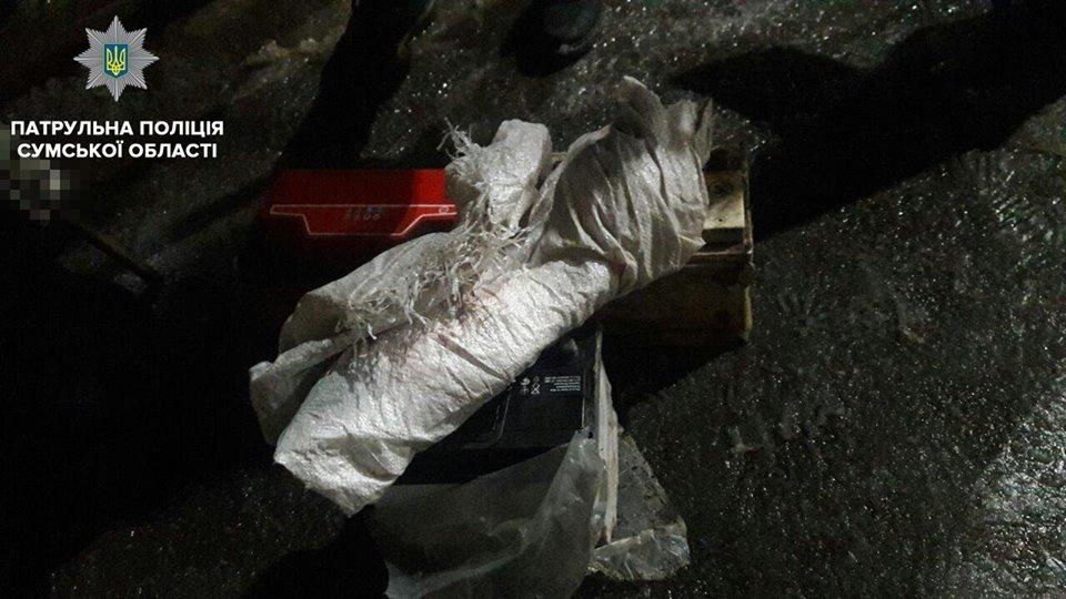 В Сумах патрульные остановили авто с аккумуляторами и иностранными номерными знаками в багажнике, фото-5
