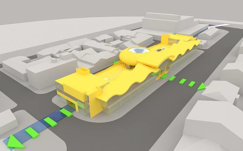 Сумской архитектор показал проект торгового комплекса «Набережный», фото-2