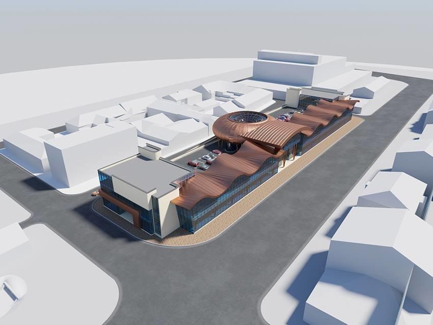 Сумской архитектор показал проект торгового комплекса «Набережный», фото-11