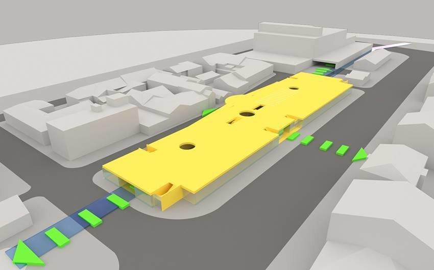 Сумской архитектор показал проект торгового комплекса «Набережный», фото-1