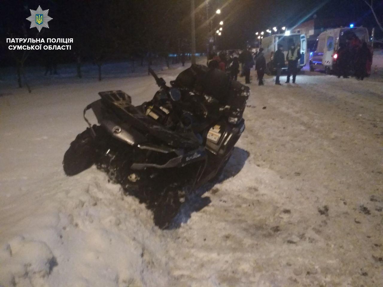 Патрульные рассказали про ДТП в Сумах, в котором пострадали водитель и пассажирка квадроцикла , фото-1