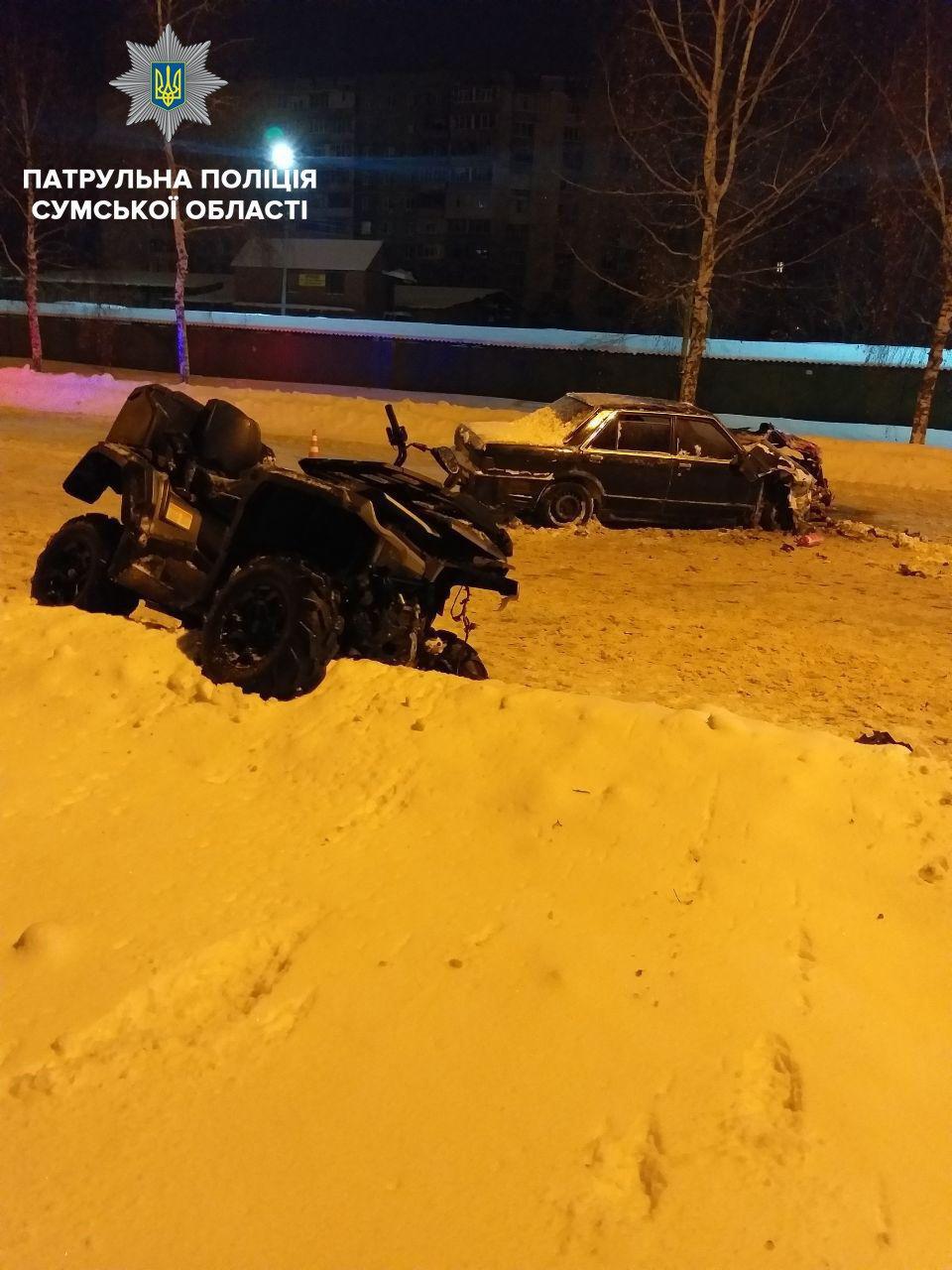 Патрульные рассказали про ДТП в Сумах, в котором пострадали водитель и пассажирка квадроцикла , фото-2