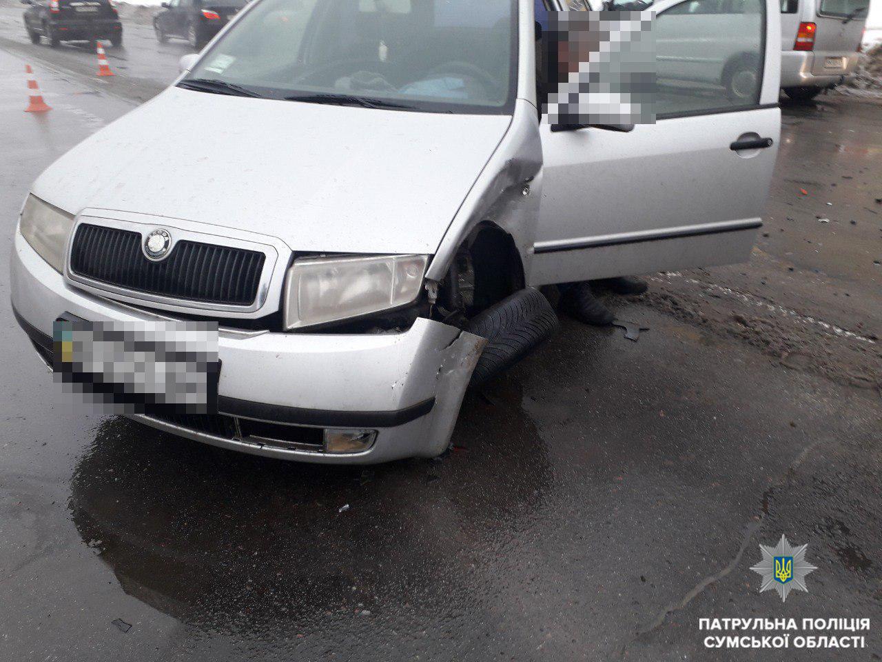 В Сумах произошло ДТП: пострадала 3-летняя пассажирка, фото-2