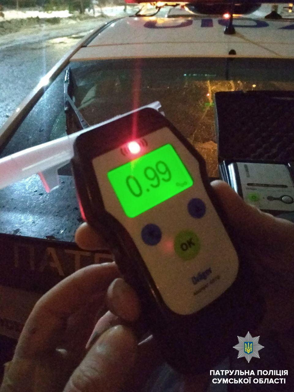 За ночь в Сумах остановили двух нетрезвых водителей, фото-3