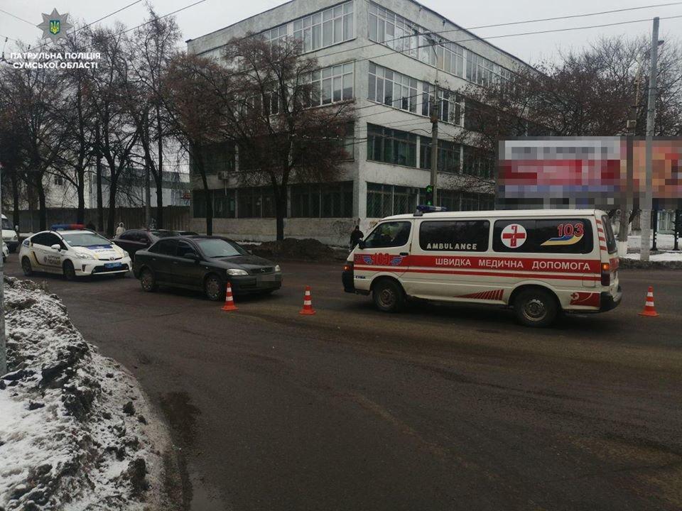 В Сумах 20-летняя девушка попала под колеса авто, фото-1