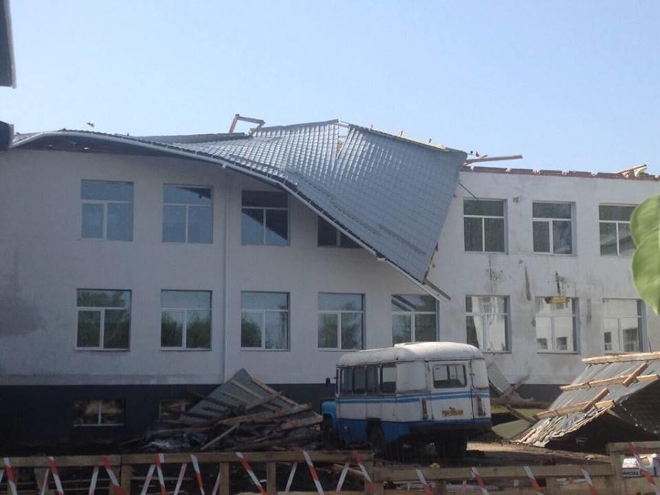 На Сумщине директору строительной компании, которая некачественно отремонтировала крышу школы, сообщили о подозрении, фото-1