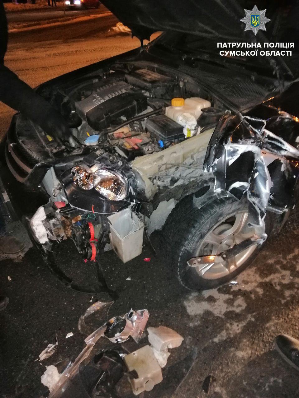 В центре Сум по вине пьяного водителя произошло ДТП, фото-1
