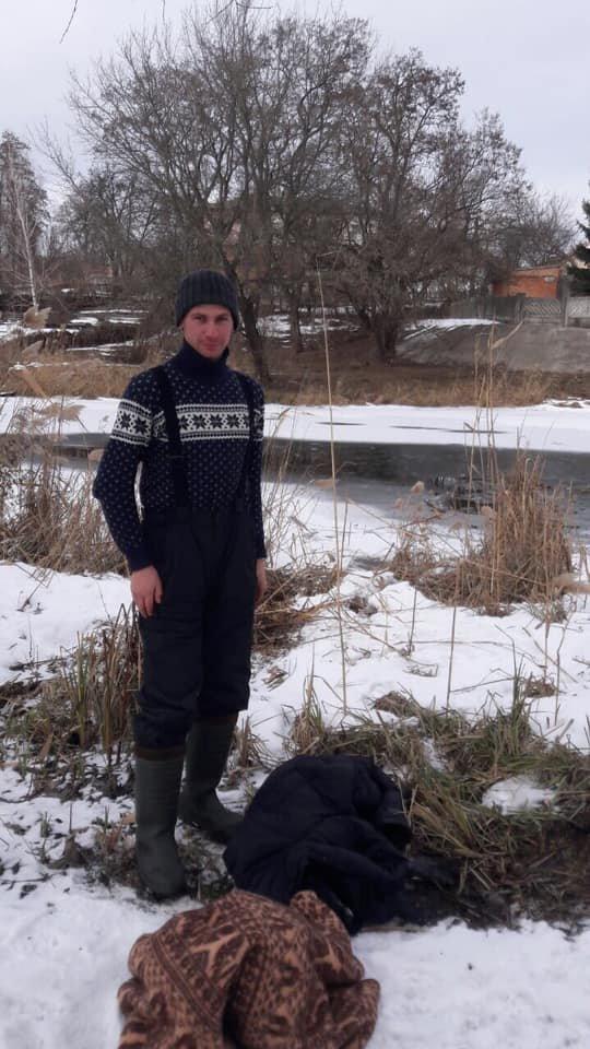 В Сумах рыбак спас собаку, которая тонула в реке, фото-2