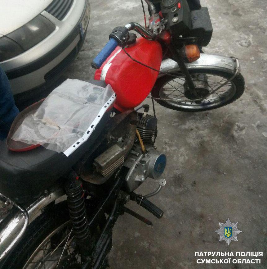 В Сумах остановили пьяного водителя мопеда без прав, фото-1