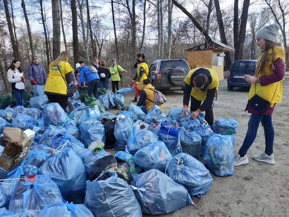 В Сумах во время акции «Час Земли» собрали почти полторы тонны мусора, фото-1