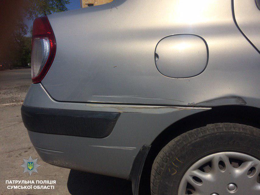 В Сумах нашли автомобиль, который скрылся с места ДТП, фото-1
