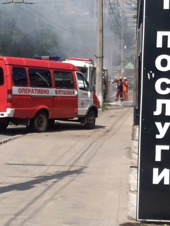 Стали известны подробности возгорания автобуса на Горького в Сумах. ДОПОЛНЕНО, фото-2