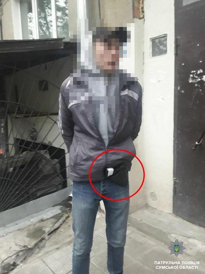 В Сумах задержали 18-летнего парня с оружием, фото-1